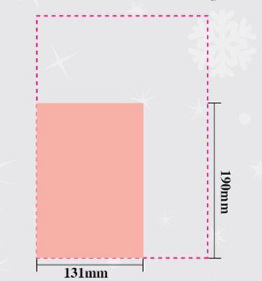 クリスマスメッセージカード SIZE