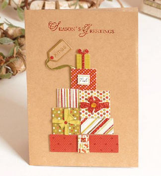 クリスマスメッセージカードG