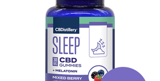 Broad Spectrum CBD 30mg Sleep Gummies + Melatonin - 30 Count - 0% T