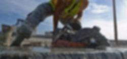 Corte horizontal em concreto