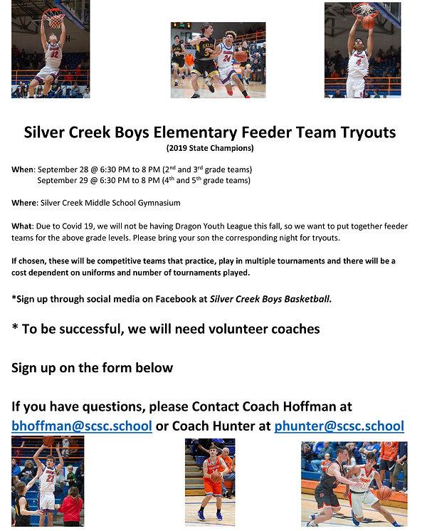 Silver Creek Boys Elementary Feeder Team