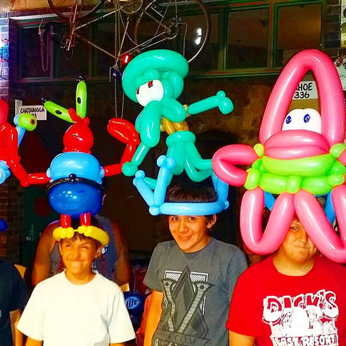 Spongebob Party Balloon Hats
