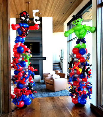 Superhero Balloon Decor