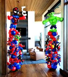 Superhero Balloon Decor