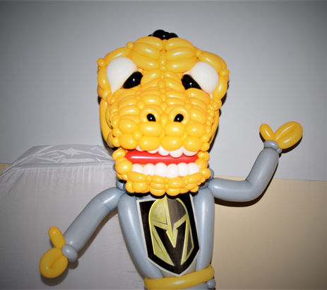 Vegas Golden Knights Chance Balloon Sculpture