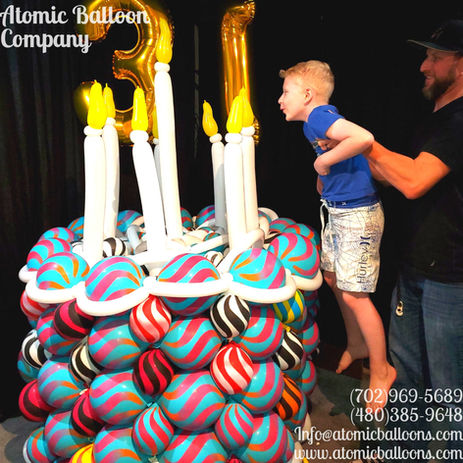 Birthday Cake Balloon Sculpture