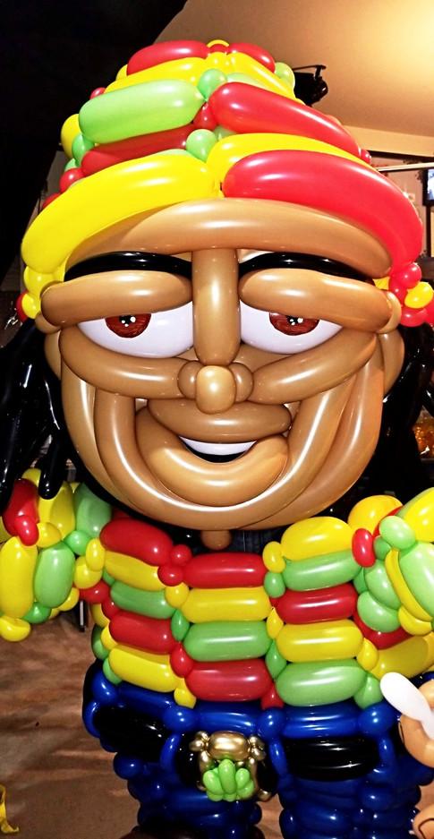 Rastafarian Man Balloon Costume