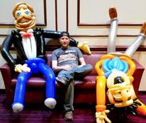 Lifesized Party Guys Balloon Sculptures