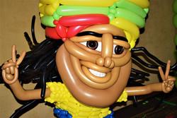 Rasta Man Balloon Costume Sculpture