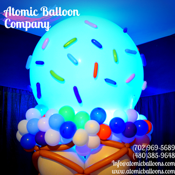 Glowing Ice Cream Balloon Decor
