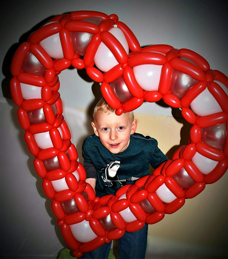 Large Heart Balloon Sculpture Delivery