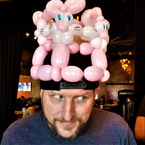 Easter Bunny Party Balloon Crown