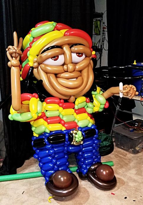 Rasta Man Balloon Costume