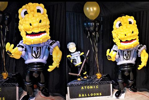 Golden Knights Chance Large Balloon Sculptures