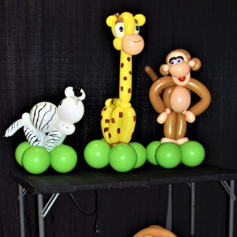 Jungle Baby Party Balloon Centerpieces