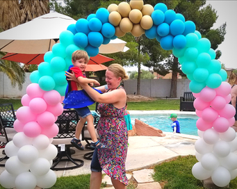 Unicorn Colors Balloon Arch