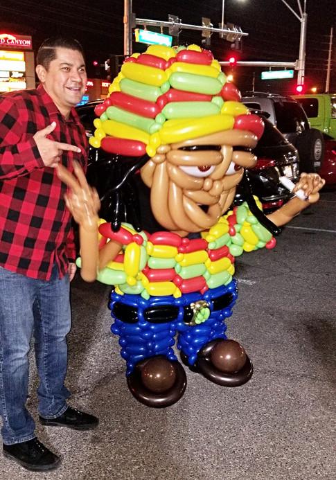 Wearable Rasta Balloon Costume