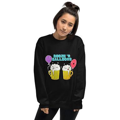 """Booze 'N Balloons"" Kissy Mugs Unisex Sweatshirt"
