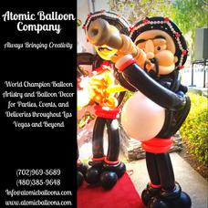 Mariachi Balloon Sculpture
