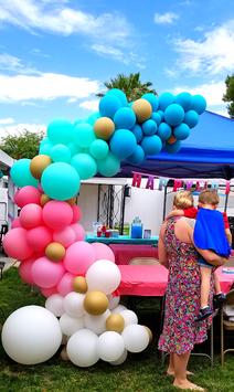 Organic Pastel Balloon Demi Arch