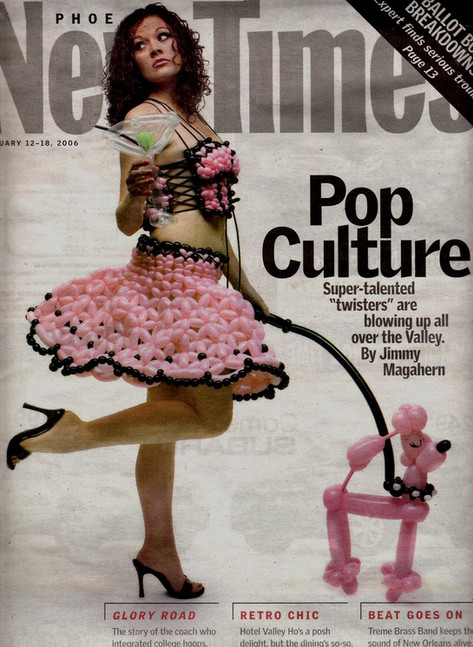 Balloon Dress Magazine Cover