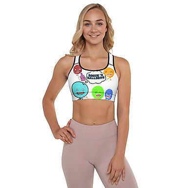 """Booze 'N Balloons"" Party Balloons Padded Sports Bra"