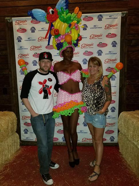 Carmen Miranda Halloween Balloon Dress Costume