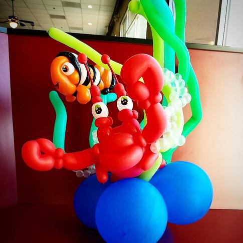 Under the Sea Fish Party Balloon Sculpture
