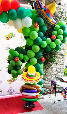 Fiesta Cactus Balloon Decor Arch