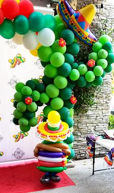 Fiesta Cactus Balloon Decor Arch