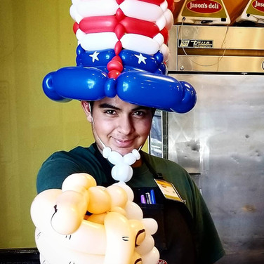 Uncle Sam 4th of July Party Balloons
