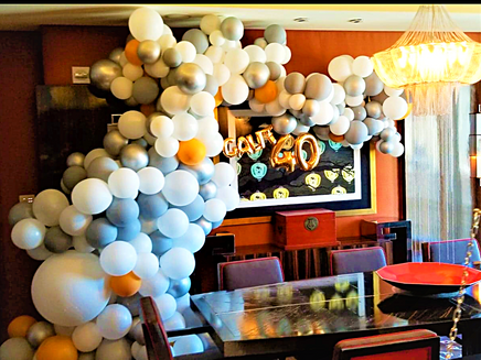 Organic Balloon Arch Decor