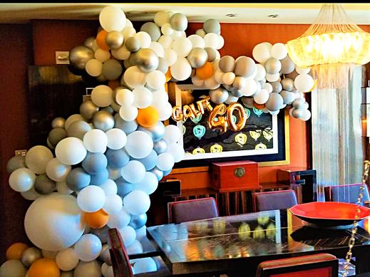 Organic Balloon Arch Decor