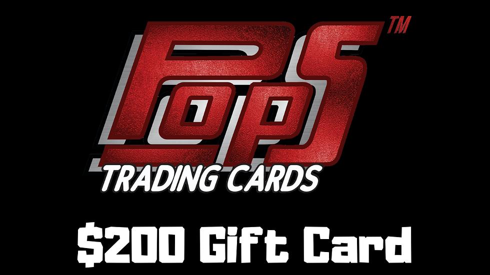 POPS $200 Gift Card