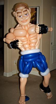Large UFC Fighter Balloon Sculpture
