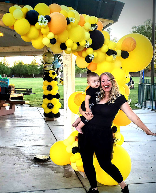 Bee Themed Organic Balloon Arch
