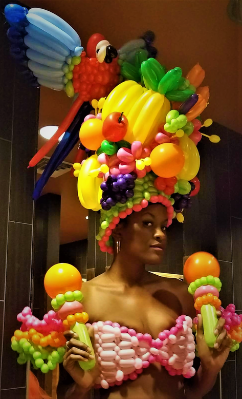 Carmen Miranda Balloon Dress Costume