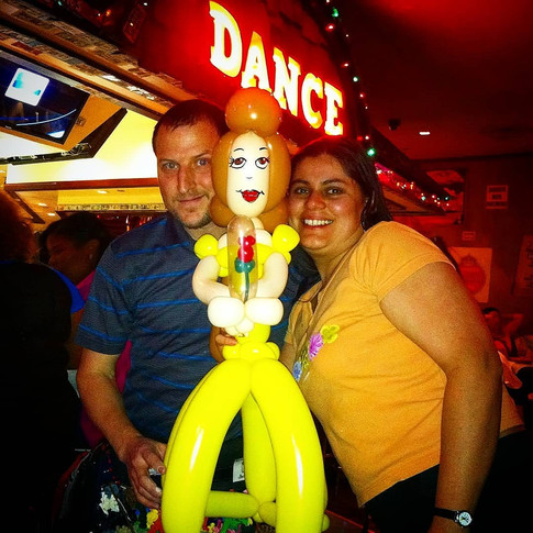 Belle Beauty and the Beast Party Balloon Sculpture