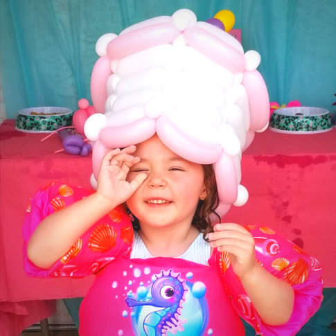 Birthday Cake Party Balloon Hat