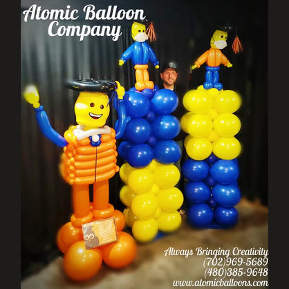 Lego Quarantine Graduate Balloon Decor