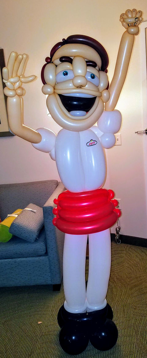 In N Out Burger Large Balloon Sculpture Display