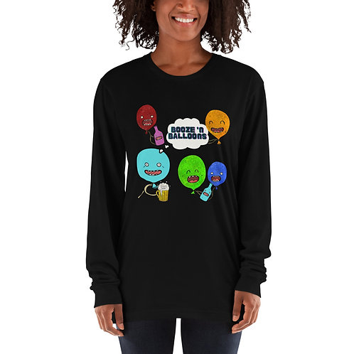"""Booze 'N Balloons"" Party Long sleeve t-shirt"