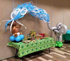 Elephant and Baby Balloon Arch