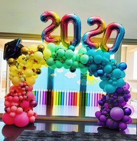 Organic Graduation Balloon Arch