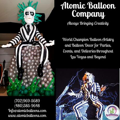 Beetlejuice Balloon Sculpture