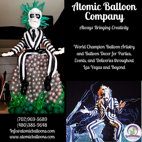 Beetlejuice Balloon Sculpture