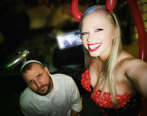 Angel and Devil Balloon Costumes