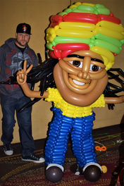 Large Rasta Man Balloon Sculpture