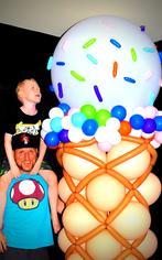 Ice Cream Balloon Column
