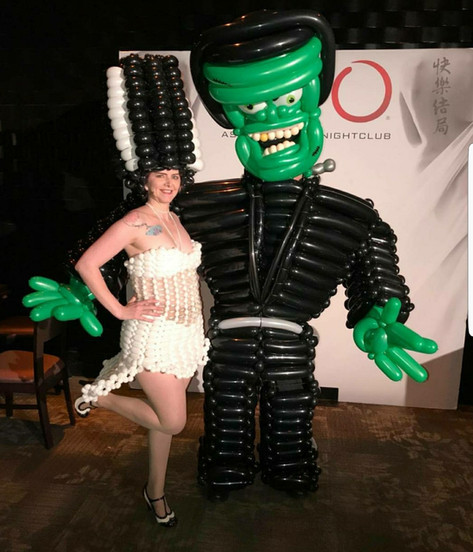 Frankenstein and Bride Balloon Costumes